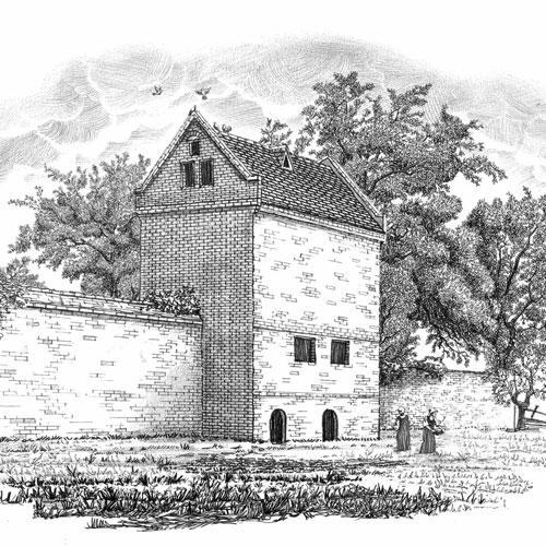 sketch of the dovecote
