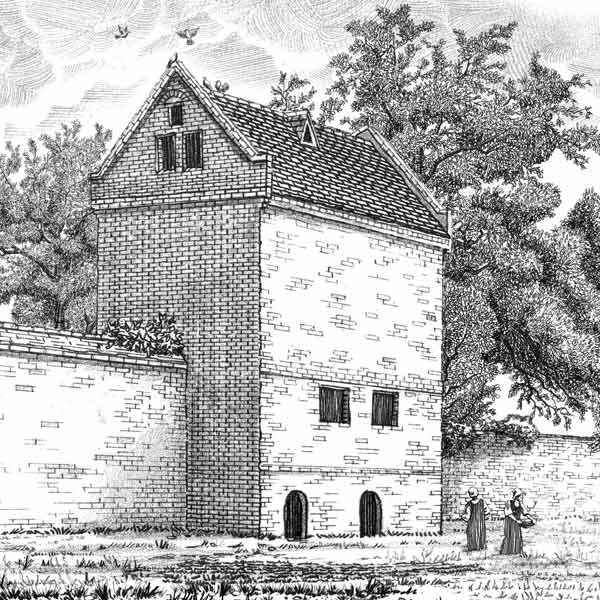 Sketch of the dovecote at Burnt House Farm